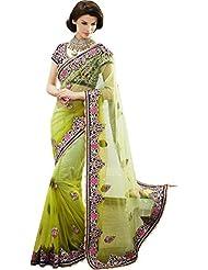 Jalsaa designer Lehengastyle saree with blouse  6427