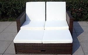 Baidani Multifunktionale Rattan Doppelliege/Sofa Harmony, braun meliertBewertungen und Beschreibung