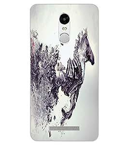 ColourCraft Creative Zebra Image Design Back Case Cover for XIAOMI REDMI NOTE 3