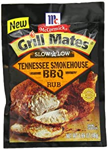 Grill Mates Tennessee Smokehouse BBQ Rub, Slow and Low, 1.65 Ounce (Pack of 10)