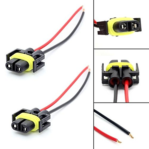 PartsSquare 1 Pair 881 H11 880 Plug Wiring Harness Sockets For Headlight Fog Driving Light (Driving Light Socket compare prices)