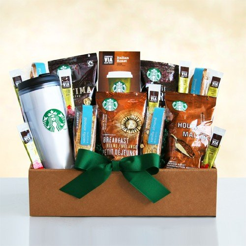 Good Morning Starbucks Traveling Gift Box - Coffee Gift for Men and Women