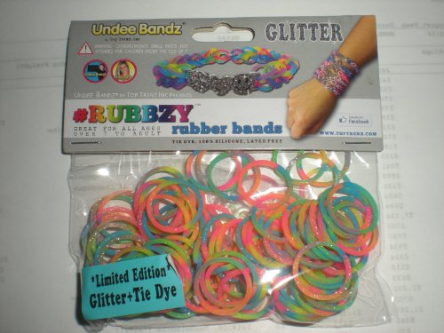 Rubbzy Glitter Neon Rainbow 100 Loose Rubber Bands