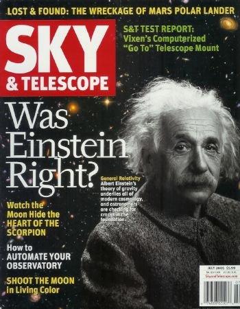 Sky & Telescope Magazine - July 2005: Astronomy Magazine Featuring Einstein, Exploring Sagittarius, Mars, And More!