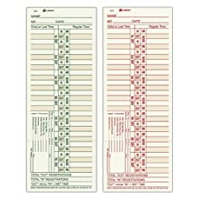 Adams Time Cards, Weekly, Overtime Format, 3.4 x 9 Inches, Manila, 2-Sided, 200 Count (9675-200)