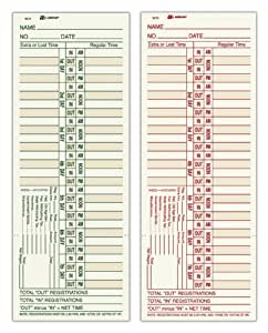 Adams Time Cards, Weekly, Bi-Weekly Overtime Format, 3.4 x 9 Inches, Manila, 2-Sided, 200 Count (9675-200)