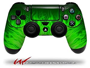 Fire Green - Decal Style Wrap Skin fits Sony PS4 Dualshock 4 Controller - CONTROLLER NOT INCLUDED