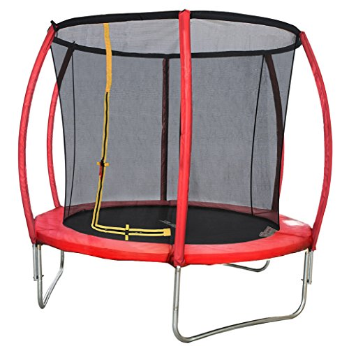 Merax-8-FT-Red-Round-Trampoline-Enclosure-Set