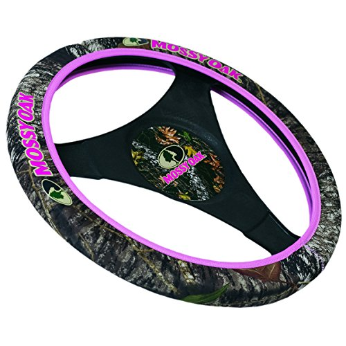 Mossy Oak Pink Trim Neoprene Steering Wheel Cover (Mossy Oak Break-Up Camo, Stretchy Neoprene, Sold Individually) (Steering Wheel Cover Alabama compare prices)