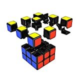 GranVela® YJ8305 3x3 Smooth Speed Cube Stickers Magic Puzzle Cube(Black)