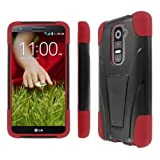 MPERO IMPACT X Series Kickstand Case for LG G2 - Black / Red (NOT Compatible with Verizon / International Model).MPERO IMPACT X Series Kickstand Black and Red Case for LG G2 (NOT Compatible with Verizon / International Model)
