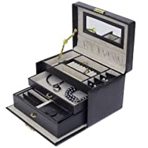 Hot Sale Jewelry Box Genuine Leather With Matching Travel Case