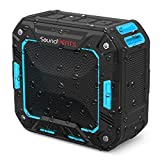 SoundPEATS(サウンドピーツ) ワイヤレス スピーカー P2 Bluetooth スピーカー IP65防塵防水仕様 耐衝撃 ポータブル スピーカー アウトドア マイク搭載通話可能 10時間連続再生【メーカー直販/1年保証付】 (ブラック・ブルー)