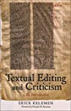 Textual Editing and Criticism