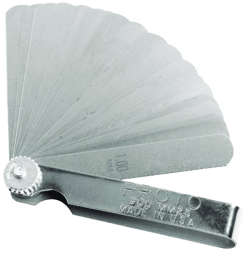 Stanley Proto J00MM25 25 Blade Metric Feeler Gauge Set