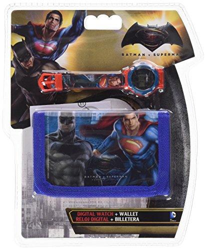 Orologio Superman E Batman Supereroi Da Polso Digitale Con Portafoglio