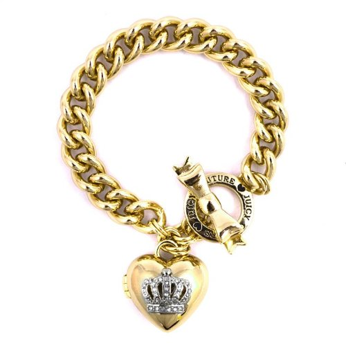 Juicy CoutureJuicy Couture Bow Toggle Heart Crown Bracelet, Gold