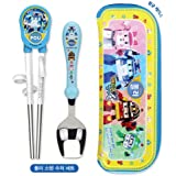 Robocar Poli Poli Children Stainless Steel Training Chopsticks And Spoon Set With Case For Right Hand 303833