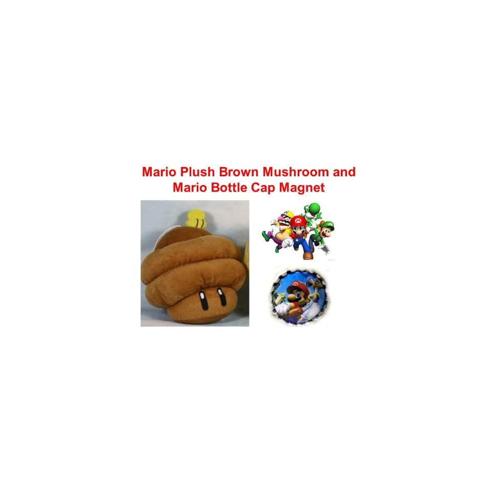 Super Mario Brothers 7 Brown Mushroom Beehive Plush Doll On Popscreen