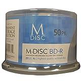 M-DISC 25GB Blu-ray Permanent Data Archival / Backup Blank Disc Media - 50 Pack Cake Box