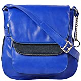 ROSTIG Women's Leather Sling Bag Blue ROSTIGS008