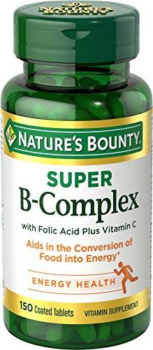 Nature's Bounty Super B-complex with Folic Acid Plus Vitamin C, 150-Count (Super B Complex Energy compare prices)