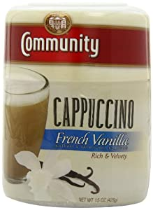 Community Coffee Instant Cappuccino French Vanilla, 15-Ounce (Pack of 3)