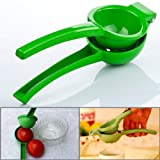 Green Enamel Coating Die Cast Aluminum Hand Held Portable Juicer Strainer Orange Lime Citrus Juice Squeezer Maker Housewife Kitchen Utensil