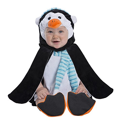 Boo Babies Halloween Costume Penguin Sz 0-9 Months 4 Pieces Flippers