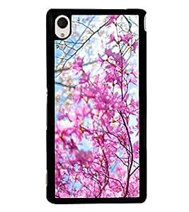 Fresh Spring Flowers 2D Hard Polycarbonate Designer Back Case Cover for Sony Xperia M4 Aqua :: Sony Xperia M4 Aqua Dual