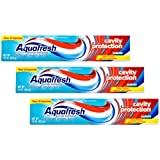 Aquafresh Cavity Protection Fluoride Toothpaste, Cool Mint, 3.0 OZ (3 Count) Travel Size