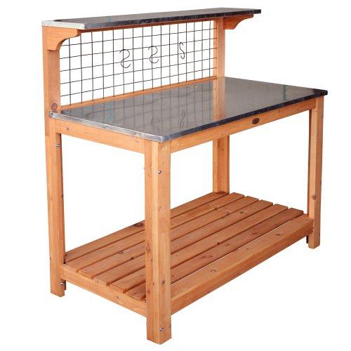 695 Gartentisch mit verzinkter Arbeitsplatte, 101 x 55 x 117 cm