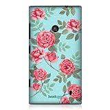 Head Case Designs Coque pour Nokia Lumia 520 Motif roses r�tros Bleu