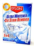 Dylon 2 in 1 Ultra Whitener & Oxi Stain Remover (5 sachets)