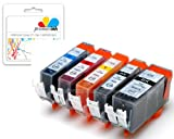 Premier Ink Pgi-525Bk / Cli-526 10 Compatible Printer Ink Cartridges For Canon Pixma Mg5200 Mg5350 Mg5250 Mg5300 Ip4800 Mx885 Ip4950 Ip4840 Ip4850 Ix6550 Mg5120 Mg5150 Mg6120 Mg6150 Mg6250 Mg8120 Mg8150 Mg8170 Ix6250 Mx882 Mg8250 Mg8220 Mg6100 Mx895 Mx71