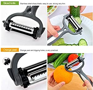 Drhob Kitchen Accessories Planer Multifunctional 360 Degree Rotary Potato Peeler Vegetable Cutter Fruit Melon Planer Grater Kitchen Tools