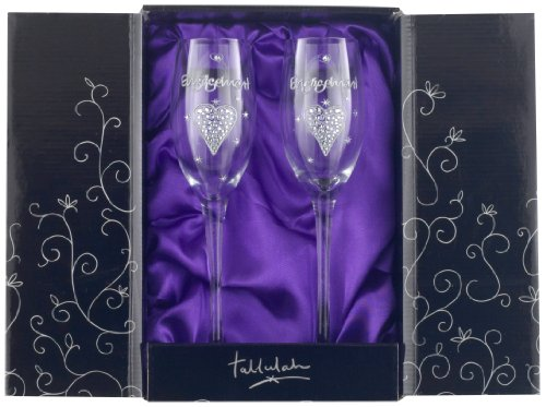 Boxer Gifts Champagne Flute, Double Pack, Engagement, Clear