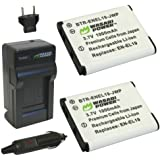 Wasabi Power Battery (2-Pack) and Charger for Nikon EN-EL19, MH-66 and Nikon Coolpix S32, S100, S2500, S2600, S2700, S2750, S2800, S3100, S3200, S3300, S3400, S3500, S3600, S4100, S4150, S4200, S4300, S4400, S5200, S5300, S6400, S6500, S6600, S6700, S6800