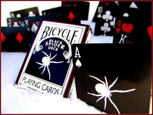 Magic Makers Bicycle Black Spider Deck - Full Bleed Black Deck