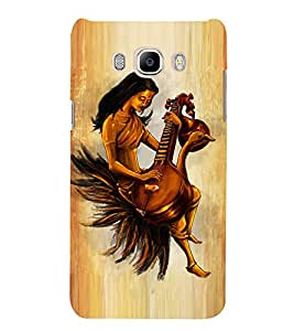 Goddess saraswathi Designer Back Case Cover for Samsung Galaxy J7(2016) Edition 5.5 Inches Screen