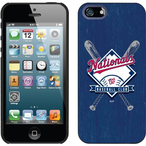 Best Price Washington Nationals - Bats design on a Black iPhone 5 Thinshield Snap-On Case by Coveroo