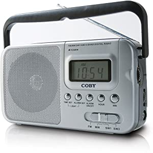 Coby CX39 World Band AM/FM/Shortwave Radio with Digital Display, Silver (Discontinued by Manufacturer)