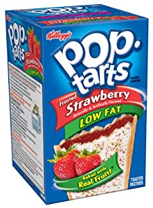Pop-Tarts, Frosted Low Fat Strawberry, 8-Count Tarts (Pack of 12)