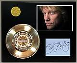 Jon Bon Jovi Gold Record Signature Series LTD Edition Display