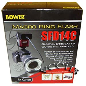 Bower SFD14C Canon E-TTL I/II  Macro Ring Flash