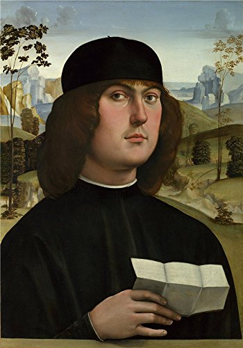 Perfect Effect Canvas ,the Imitations Art DecorativeCanvas Prints Of Oil Painting 'Francesco Francia Bartolomeo Bianchini ', 24 X 34 Inch / 61 X 87 Cm Is Best For Bathroom Gallery Art And Home Decor And (Farm Tractor Deluxe Party Pack)