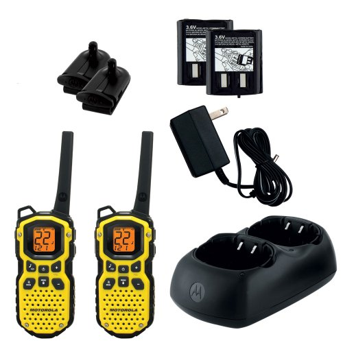 Motorola MS350R 22 Channel 35 Mile Two-Way Radios – Waterproof & Floats