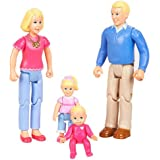 You & Me Happy Together Family Dolls - Caucasian - Dad, Mom, Daughter and Baby