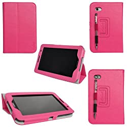 ProCase Galaxy Tab 2 7.0 Case Ultra Slim Folio Leather Case Cover for Samsung Galaxy Tab 2 7.0 GT-P3113 Tablet (Pink Flip Stand)