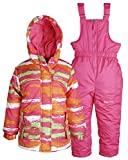 Little Chill Baby Girls Insulated Snowboard Snow Pants and Camo Jacket Snowsuit - Fuchsia (24 Months)